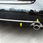 Nissan Altima Sedan Stainless Steel Rear Bumper Exhaust Trim, 2007, 2008, 2009, 2010, 2011, 2012