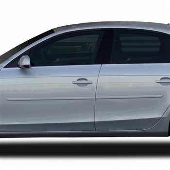 Audi A4 Painted Body Side Molding, 2009, 2010, 2011, 2012, 2013, 2014, 2015, 2016, 2017, 2018, 2019, 2020