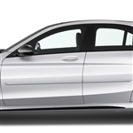 Mercedes C-Class Painted Body Side Moldings, 4pc  2015, 2016, 2017, 2018, 2019, 2020, 2021