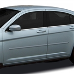 Chrysler 200 Sedan Painted Body Side Moldings, 2011, 2012, 2013, 2014