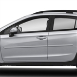 Subaru XV Crosstrek Painted Body Side Moldings, 2013, 2014, 2015, 2016, 2017, 2018, 2019, 2020