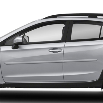 Subaru XV Crosstrek Painted Body Side Moldings, 2013, 2014, 2015, 2016, 2017, 2018, 2019