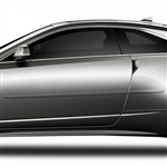 Cadillac CTS Coupe Painted Body Side Moldings, 2011, 2012, 2013, 2014