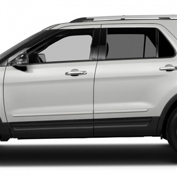 Ford Explorer Painted Body Side Moldings, 2011, 2012, 2013, 2014, 2015, 2016, 2017, 2018, 2019