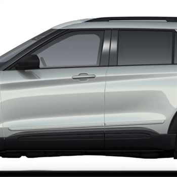 Ford Explorer Painted Body Side Moldings, 2020, 2021, 2022