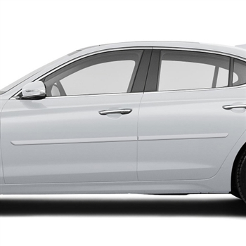 Genesis G70 Painted Body Side Moldings, 2018, 2019, 2020, 2021