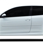 Volkswagen Golf 2 Door Painted Body Side Moldings, 2010, 2011, 2012, 2013, 2014, 2015