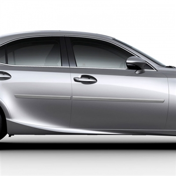 Lexus IS Painted Body Side Moldings, 2014, 2015, 2016, 2017, 2018, 2019