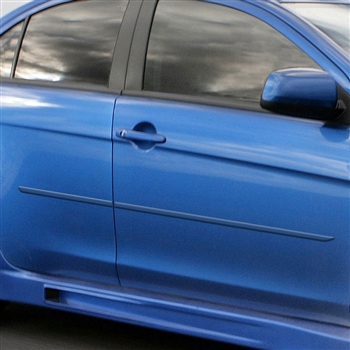 Mitsubishi Lancer Painted Body Side Moldings, 2008, 2009, 2010, 2011, 2012, 2013, 2014, 2015, 2016, 2017