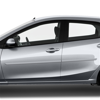 Mazda 2 Painted Body Side Moldings, 2011, 2012, 2013, 2014