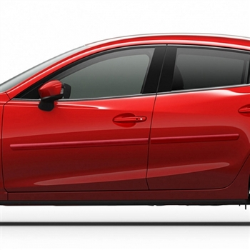 Mazda 3 Painted Body Side Moldings, 2014, 2015, 2016, 2017, 2018, 2019, 2020, 2021