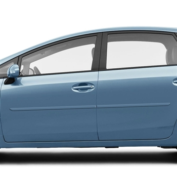 Toyota Prius V Painted Body Side Moldings, 2012, 2013, 2014, 2015, 2016, 2017
