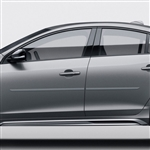 Volvo S60 Painted Body Side Moldings, 2010, 2011, 2012, 2013, 2014, 2015, 2016, 2017, 2018