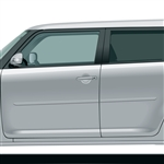 Scion XB Painted Body Side Moldings, 2004, 2005, 2006, 2007, 2008, 2009, 2010, 2011, 2012, 2013, 2014, 2015