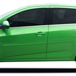 Chevrolet Sonic Painted Body Side Moldings, 2012, 2013, 2014, 2015, 2016, 2017, 2018