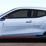 Hyundai Veloster Painted Body Side Moldings, 2019, 2020, 2021