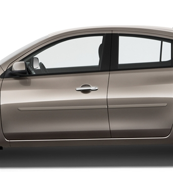 Nissan Versa Painted Body Side Moldings, 2007, 2008, 2009, 2010, 2011, 2012, 2013, 2014, 2015, 2016, 2017, 2018, 2019
