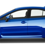 Subaru WRX Painted Body Side Moldings, 2011, 2012, 2013, 2014, 2015, 2016, 2017, 2018, 2019