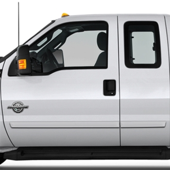 Ford Super Duty Painted Body Side Moldings, 2017, 2018, 2019, 2020, 2021