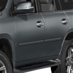 Lexus GX460 Painted Body Side Moldings, 2010, 2011, 2012, 2013, 2014, 2015, 2016, 2017, 2018, 2019, 2020