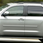 Toyota Sequoia Painted Body Side Moldings, 2008, 2009, 2010, 2011, 2012, 2013, 2014, 2015, 2016, 2017, 2018, 2019, 2020