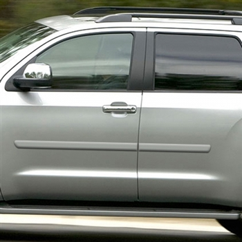 Toyota Sequoia Painted Body Side Moldings, 2008, 2009, 2010, 2011, 2012, 2013, 2014, 2015, 2016, 2017, 2018, 2019