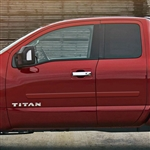 Nissan Titan Painted Body Side Moldings, 2016, 2017, 2018, 2019, 2020