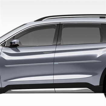 Subaru Ascent Painted Body Side Moldings (beveled design), 2019, 2020, 2021