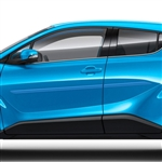 Toyota C-HR Painted Body Side Moldings (beveled design), 2018, 2019