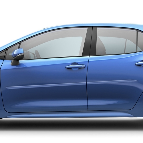 Toyota Corolla Hatchback Painted Body Side Moldings Beveled Design 2019 2020 2021 Shopsar Com