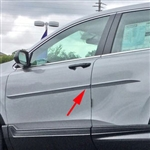 Honda CR-V Painted Body Side Moldings (beveled design), 2017, 2018, 2019