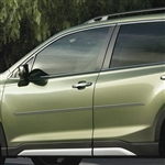 Subaru Forester Painted Body Side Moldings (beveled design), 2019, 2020, 2021