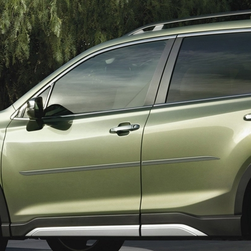 Subaru Forester Painted Body Side Moldings Beveled Design 2019 2020 2021 Shopsar Com