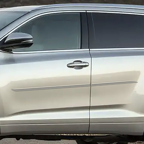 Toyota Highlander Painted Body Side Moldings Beveled Design 2014 2015 2016 2017 2018 2019 Shopsar Com