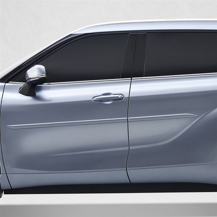 Toyota Highlander Painted Body Side Moldings Beveled Design 2020 2021 Shopsar Com