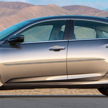 Honda Insight Painted Body Side Moldings (beveled design), 2019, 2020