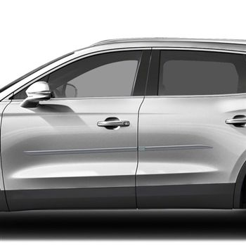 Lincoln MKX Painted Body Side Moldings (beveled design), 2016, 2017, 2018, 2019, 2020