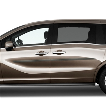 Honda Odyssey Painted Body Side Moldings (beveled design), 2018, 2019, 2020, 2021