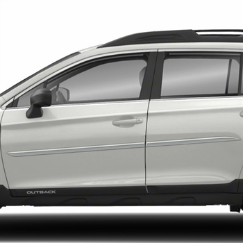 Subaru Outback Painted Body Side Moldings (beveled design), 2010, 2011, 2012, 2013, 2014, 2015, 2016, 2017, 2018, 2019