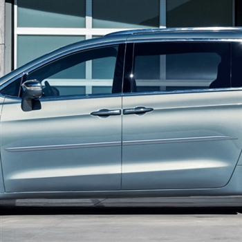 Chrysler Pacifica Painted Body Side Moldings (beveled design), 2017, 2018, 2019