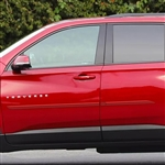 Chevrolet Traverse Painted Body Side Moldings (beveled design), 2018, 2019, 2020, 2021