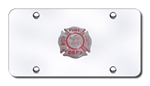 Chrome License Plate - Fire Department