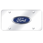 Ford Logo Chrome License Plate