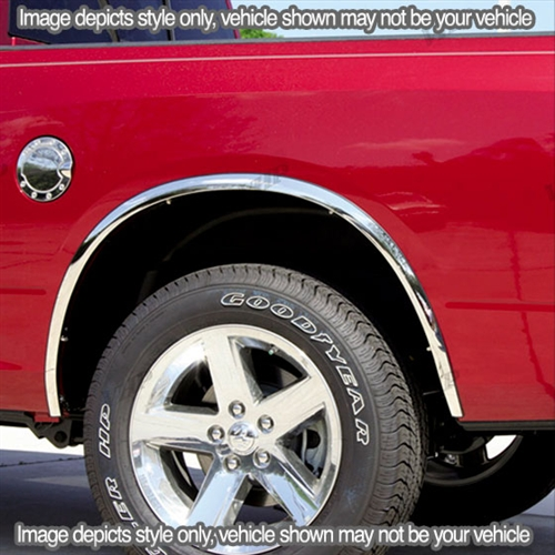 Gmc Sierra Chrome Wheel Well Fender Trim 4pc 2007 2013