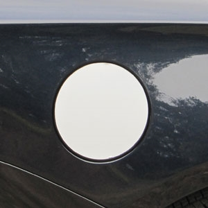 Chevrolet Impala Chrome Fuel Door Trim, 2014, 2015, 2016, 2017, 2018, 2019, 2020