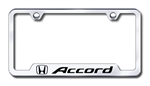 Honda Accord Premium Chrome License Plate Frame