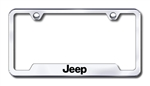 Jeep Premium Chrome License Plate Frame