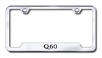 Infiniti Q60 Chrome License Plate Frame