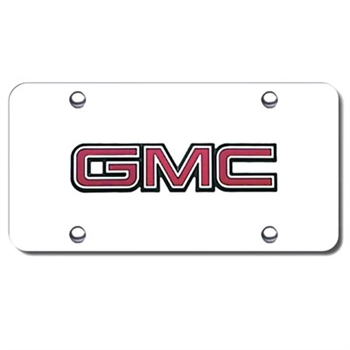 GMC Logo Chrome License Plate