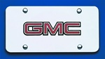 Chrome License Plate - GMC